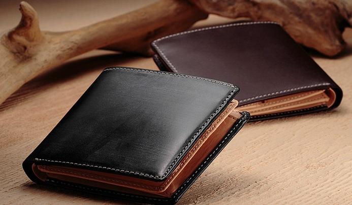 グレンチェック2つ折り財布1