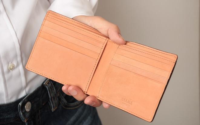 アヤメアンティーコ2つ折り財布5