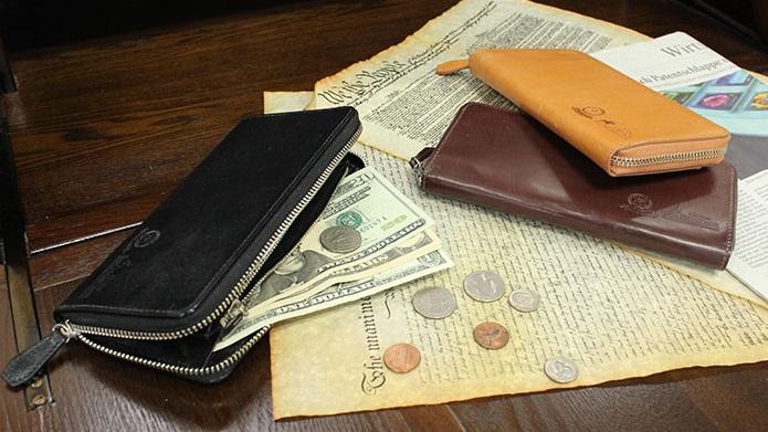グレンチェック長財布5